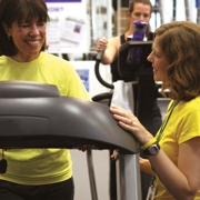 Kristin Leung, Wellness Director, Princeton Family YMCA with client